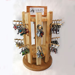 LILO Collections - 16 Hook Wood Spinner Display #260005